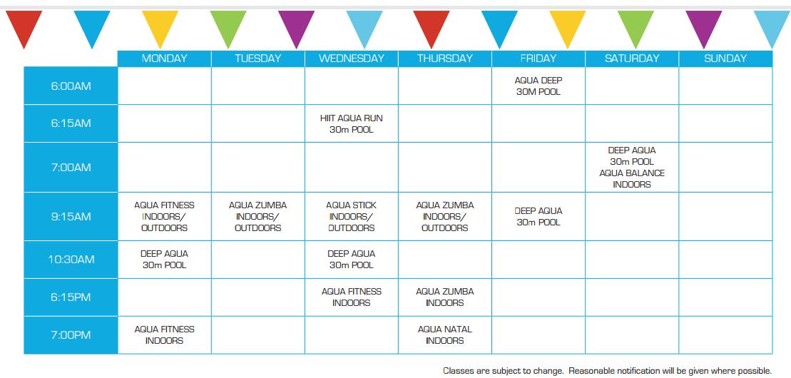 aqua fitness classes beatty park leisure centre. Black Bedroom Furniture Sets. Home Design Ideas